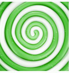 Lollipop background green sweet candy vector
