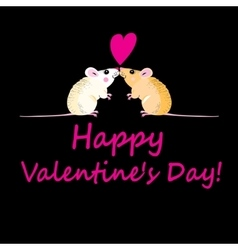 Lovers funny mouse vector image