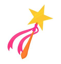 magic wand toy icon cartoon style vector image