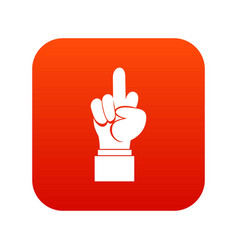 Middle finger hand sign icon digital red vector