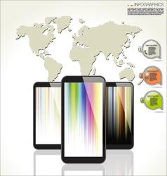 Modern techonology design background vector