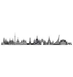 moscow city skyline 9 vector image