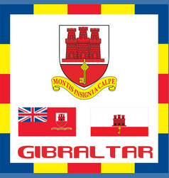 official government ensigns of gibraltar vector image