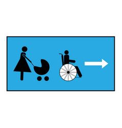 Pass for the disabled and mother with child vector
