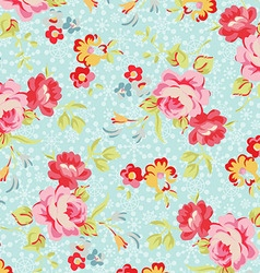 Pattern with roses on a background of snowflakes vector