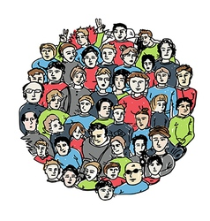 people group color version vector image