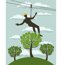 Person over a tree vector image