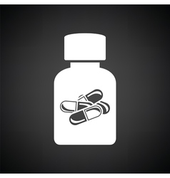 Pills bottle icon vector image