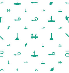Pipe icons pattern seamless white background vector