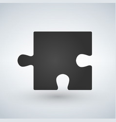 puzzle piece flat icon for apps and websites vector image