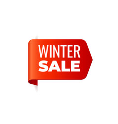 red banner left bookmark winter sale vector image