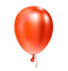 Red helium balloon birthday baloon flying vector
