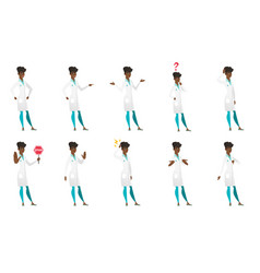 set of doctor characters vector image vector image