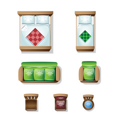 set top view for interior icon design vector image
