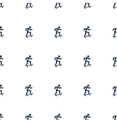 skateboard icon pattern seamless white background vector image