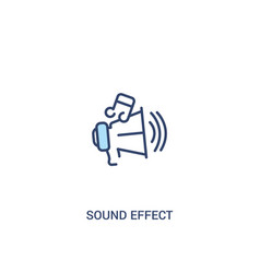 Sound effect concept 2 colored icon simple line vector