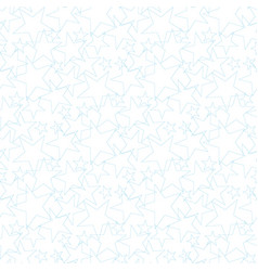 star seamless pattern cute blue stars on a yellow vector image