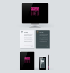 Stationery Branding Mock-Up template vector