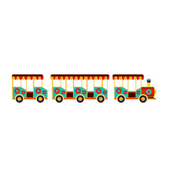 steam kids train from amusement park vector image