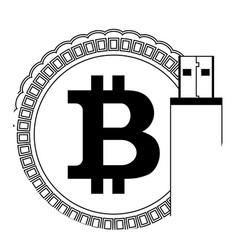 storage bitcoin wallet vector image