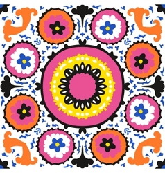 Suzani ethnic pattern with bold ornament vector