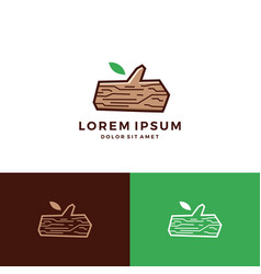 Timber lumber wood tree logo vector