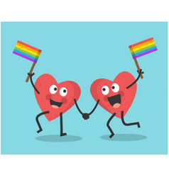 valentines day and rainbow flag vector image