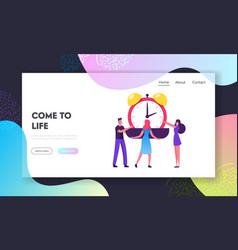 Valuable time resource website landing page vector