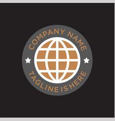 Vintage world badge logo vector