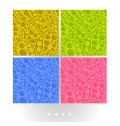 vivid abstract seamless patterns vector image