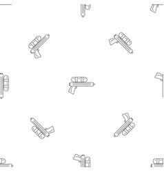 Water gun pistol pattern seamless vector