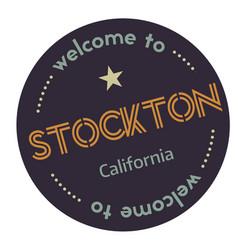 Welcome to stockton california vector