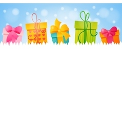 Gift with space for text vector image vector image
