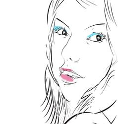 make up girl vector image vector image