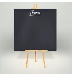Menu blackboards or chalkboards vector image vector image
