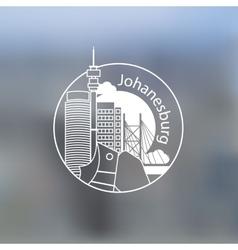 Minimalist round icon of Johanesburg South Africa vector image