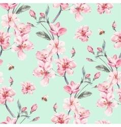 Vintage garden spring seamless background vector image