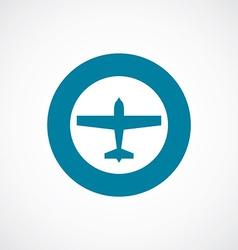 airplane icon bold blue circle border vector image vector image