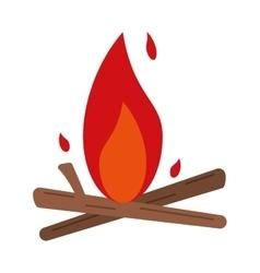 Bonfire wood camping design vector