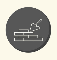 brick masonry and trowel for brickwork vector image vector image