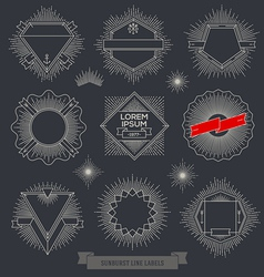 Set of line design emblem sign and hipster labels vector image vector image