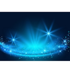 Background with Sparkling Stream Effect vector image