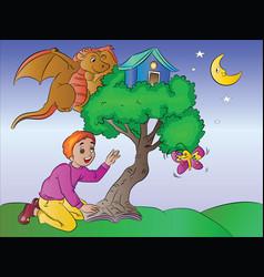 boys imagination vector image vector image