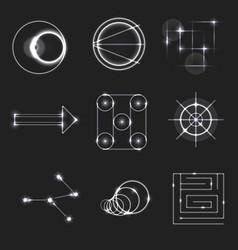color dodge light symbols vector image