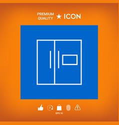 Refrigerator linear icon vector