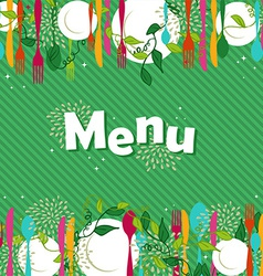 Restaurant food menu design vector image