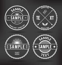 Retro Logo Elements vector image vector image