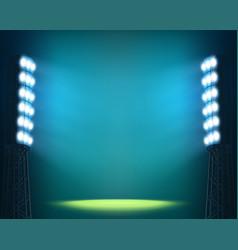 stadium lights against dark night sky background vector image