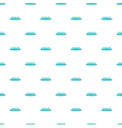 Water wave pattern cartoon style vector image