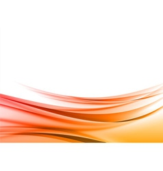 abstract red wave background vector image